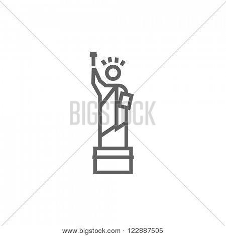 Statue of Liberty line icon.