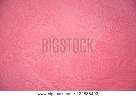 Colorful abstract texture oil painting on canvas Red texture Brushstrokes of paint can be use as background or wallpaper