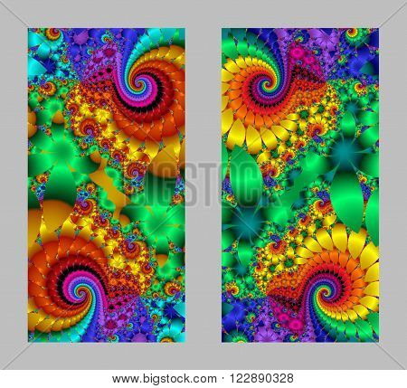 Mobile phone cover back with beautiful multicolored Pattern in fractal design.