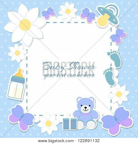 Baby Shower Boy, Invitation Card.