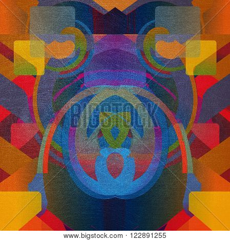 abstract desiign geometrical shapes shabby motley surface