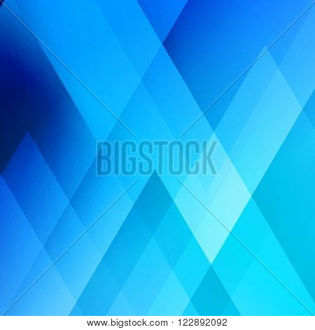 Abstract light background. Blue triangle pattern. Blue triangular background