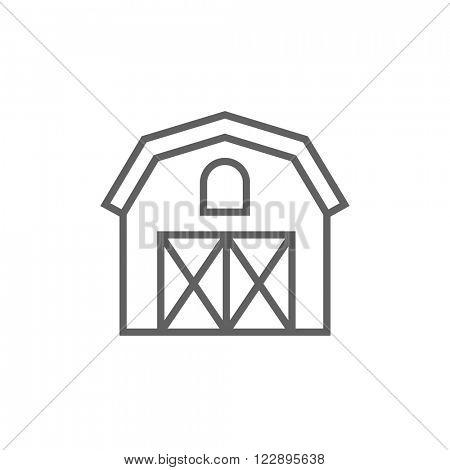 Farm building line icon.