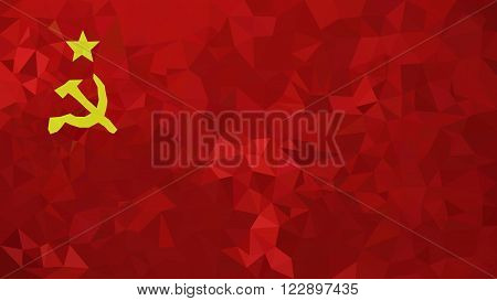 Soviet Union high poly triangulated flag in EPS 8 format.