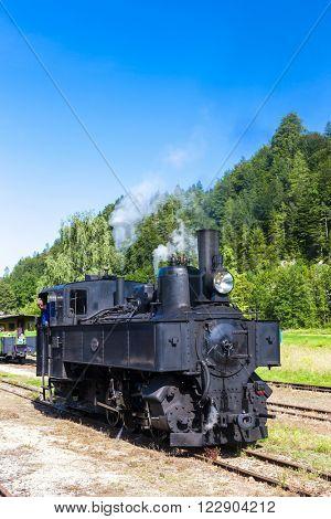 steam locomotive, Lunz am See, Lower Austria, Austria