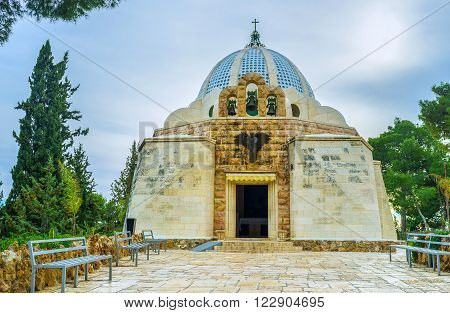 The Shepherds Field Chapel was built in the place where according to the Holy Bible the angel announced to the shepherds Bethlehem Palestine Israel.