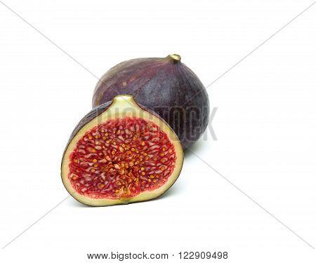 figs close-up isolated on white background. horizontal photo.