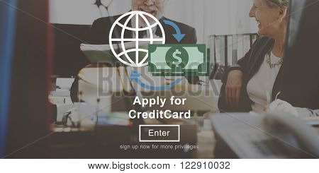 Apply Credit Card Financial Graphics Concept