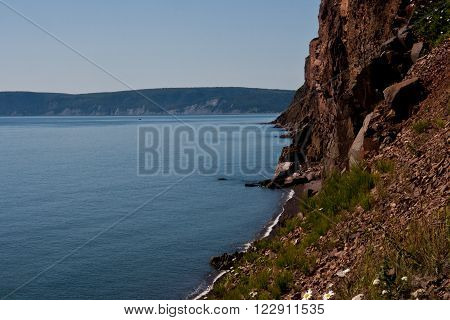 Bay of Fundy, West Advocate region in the distance, from Cape d'Or, Nova Scotia