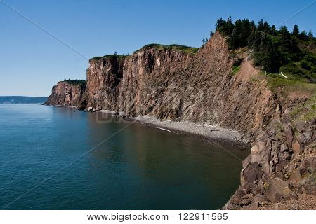 Cliffs along the shore of the Bay of Fundy - Cape d'Or, Nova Scotia
