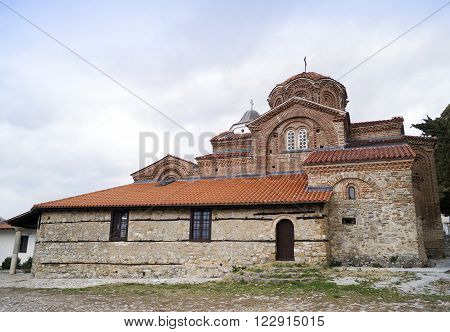 Holy Mary Peribleptos church build in 13th century is one of the oldest churches in the town of Ohrid Macedonia