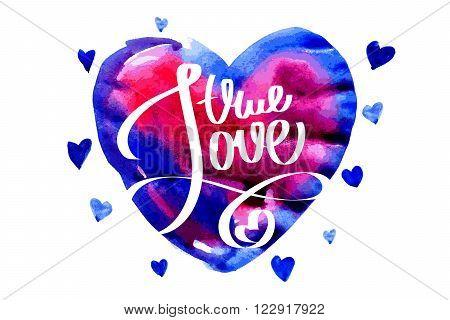 True Love. Letterihg