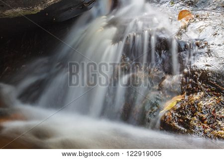 Small Waterfall in deep forest in national park