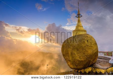 Golden Rock of Mt. Kyaiktiyo, Myanmar.