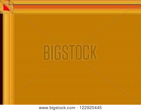 unique gold panel with red corner image background