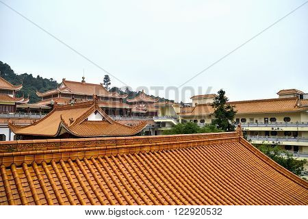View on the roofs of Hongfa temple