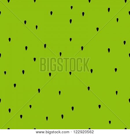 Seamless pattern of green kiwi pulp with black seeds.