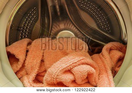 The drum washing machine and a bathrobe