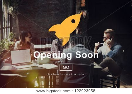 Open Service Opening Soon Free Concept