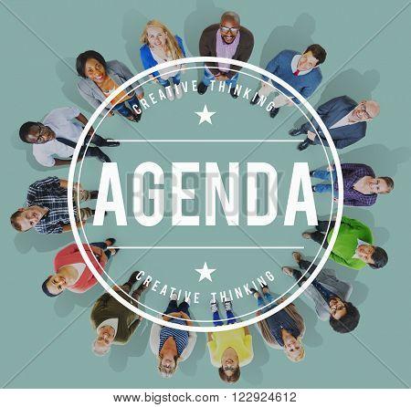 Agenda Timetable Schedule Calendar Concept