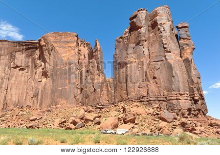 View of buttes in the Monument Valley,Utah, Arizona