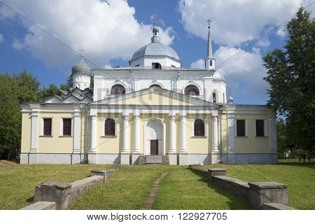 The Church of Nikita the Martyr in Novgorod the Great july day. Russia