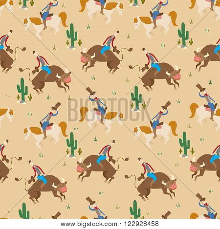 Rodeo Seamless Pattern