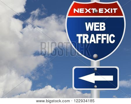 Web traffic road sign