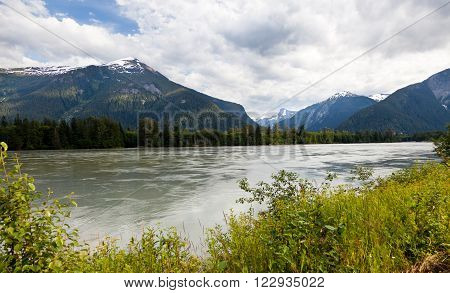 Skeena River close up Prince Rupert BC Canada