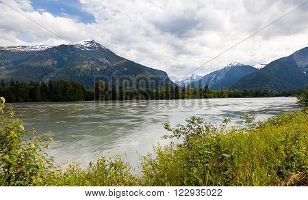 Skeena River close up Prince Rupert BC Canada