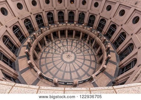 Texas State Capitol Building hall in Austin, TX