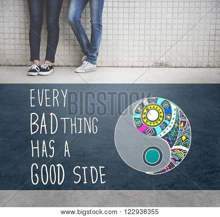 Experience Good Positive Qoute Encouragement Concept