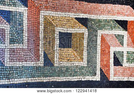 Ancient Mosaic Tiled Floor In The Vatican