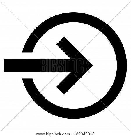 Import vector icon. Style is flat icon symbol, black color, white background.