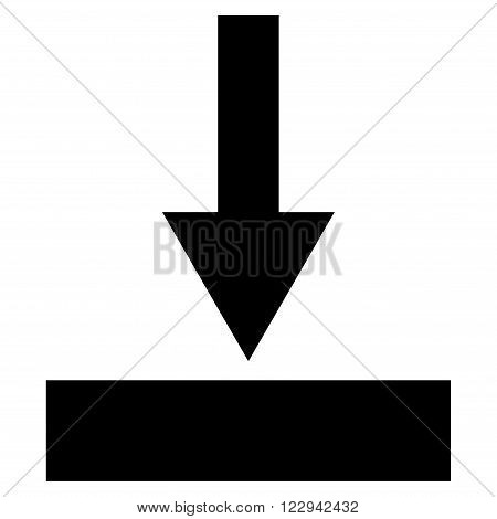 Move Bottom vector icon. Style is flat icon symbol, black color, white background.