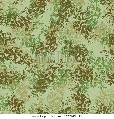 Military Texture. Army Seamless Pattern. Ornament For Soldiers Clothes. Military Green Pattern. Spla