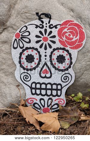 A sugar skull decoration for the Day of the Dead Celebration