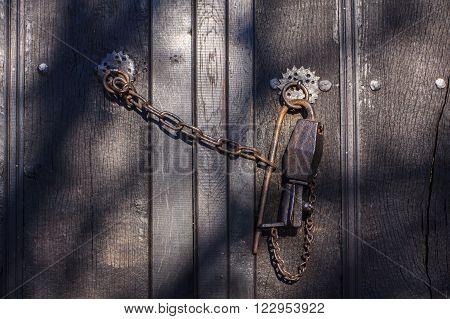 Old door lock in the village of Zheravna, Bulgaria