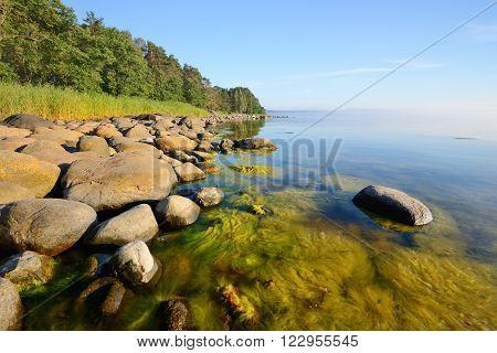 Rocks At The Coast Of Kasmu (captain's Village), Estonia