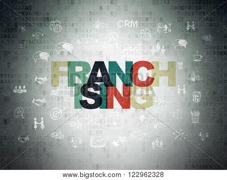 Finance concept: Franchising on Digital Paper background