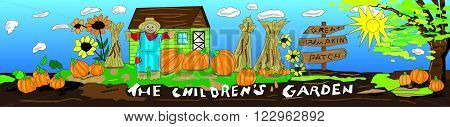 Children's Garden Pumpkin Patch for outdoor signage