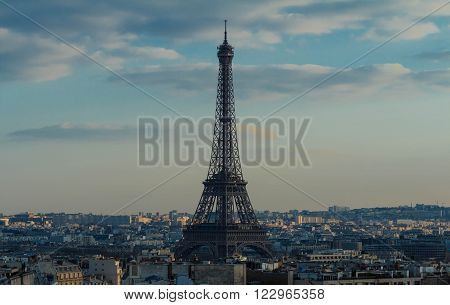 The Eiffel tower and parisian houses.Millions of foreign visitors flocked to Paris helping the French capital to maintain its title as the world's most popular destination.