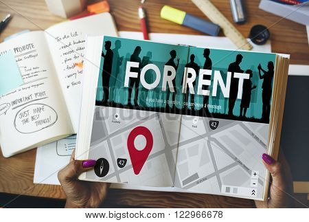 For Rent Rental Available Renting Borrow Property Concept
