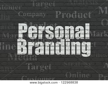 Advertising concept: Personal Branding on wall background