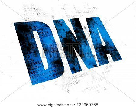 Health concept: DNA on Digital background