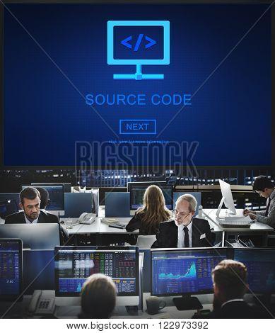 Source Code Binary Data Internet Program Decode Concept