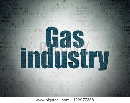 Industry concept: Gas Industry on Digital Paper background