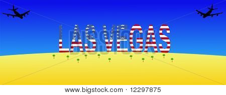two planes flying to giant Las Vegas sign JPG