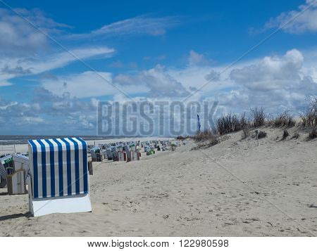 the beach of Norderney in the North sea