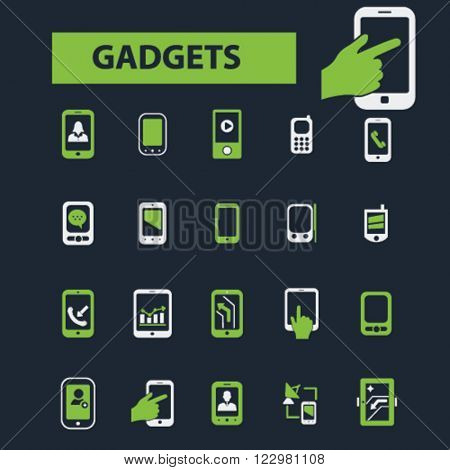 gadget, smarphone, cell phone icons